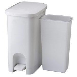 踩踏式垃圾桶做菜時不怕沒手丟垃圾-二格分類/回收防水垃圾桶 (25L)