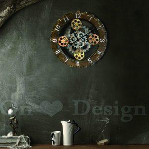 居家裝潢必備法式工業風格掛鐘LOFT-數字齒輪輪胎掛鐘/時鐘