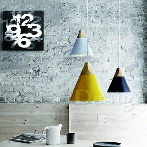 簡約居家裝潢-北歐小清新普普風格掛鐘凹凸數字掛鐘/時鐘