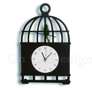 Loft北歐鐵件風格趣味設計鳥籠鐘擺/時鐘/客廳走廊掛鐘
