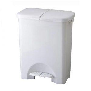 踩踏式垃圾桶做菜時不怕沒手丟垃圾-二格分類/回收防水垃圾桶 (45L)