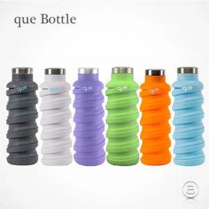 可自由伸縮外出健身都可用- 美國 que 環保伸縮水瓶/600ml