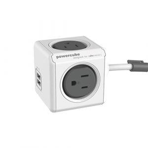 積木是設計隨意搭配-PowerCube 雙USB延長線(灰色)線長1.5公尺