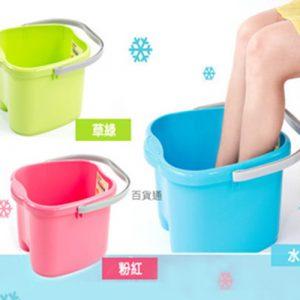 在家也能做SPA-台灣製紓壓泡腳桶18L (綠、藍、粉)